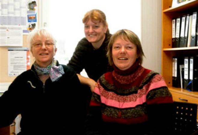 Foto von Irmela von Toerne, Chjristine Halas und Christiane Lensch